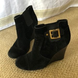 Tory Burch black suede booties size 8